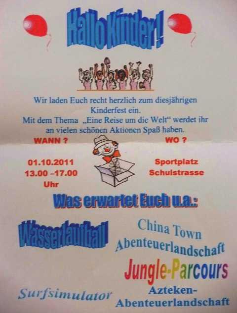 einladung zum kinderfest am 1. oktober auf unserem blog, Einladungen
